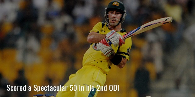 scored a spectacular 50 in his 2nd odi