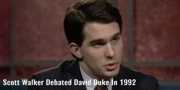 scott walker debated david duke in 1992