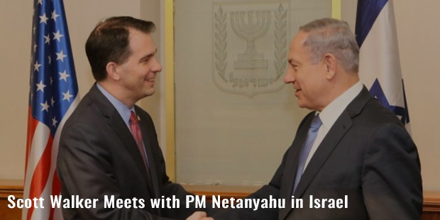 scott walker meets with pm netanyahu in israel