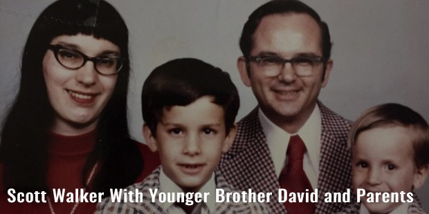 scott walker with younger brother david and parents