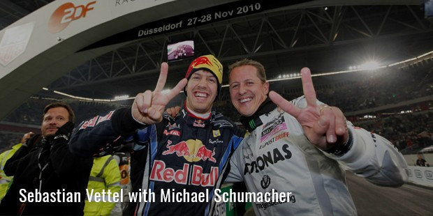 sebastian vettel with michael schumacher