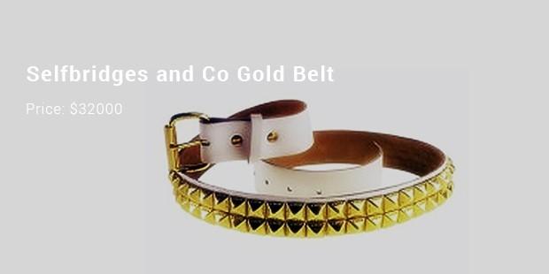 selfbridges and co gold belt
