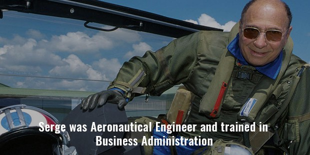 serge was aeronautical engineer and trained in