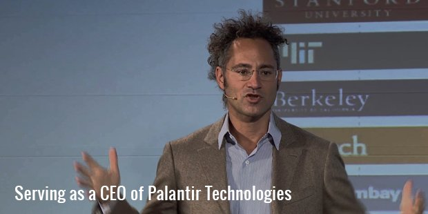 serving as a ceo of palantir technologies