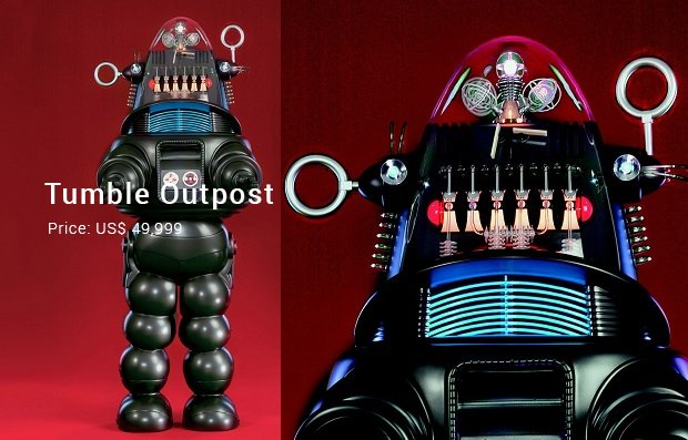 seven foot robby robot