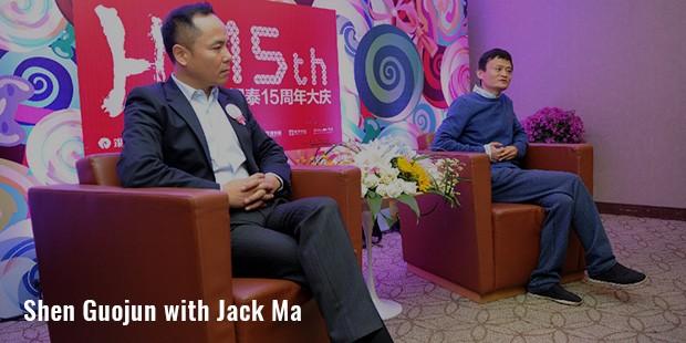 shen guojun with jack ma