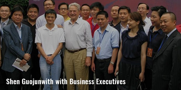 shen guojunwith with business executives