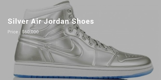 silver air jordan shoes