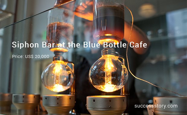 siphon bar at the blue bottle cafe machine