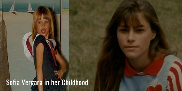 Sofia Vergara in her Childhood