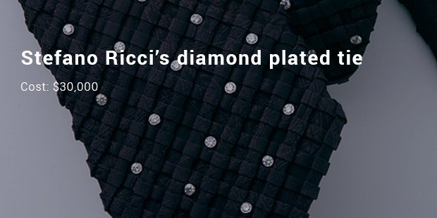 stefano ricci's diamond plated tie