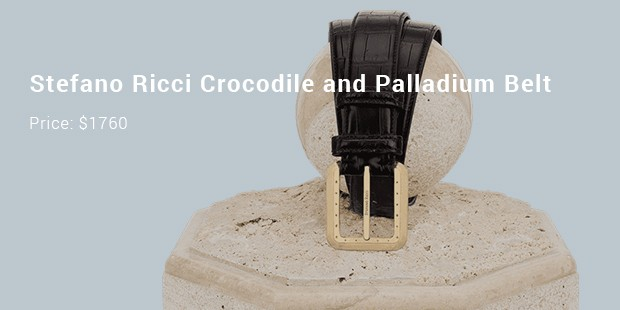 stefano ricci crocodile and palladium belt