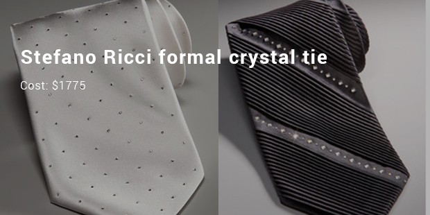 stefano ricci formal crystal tie