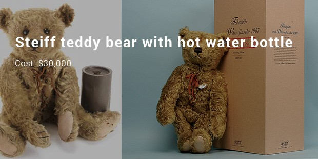 steiff teddy bear with hot water bottle