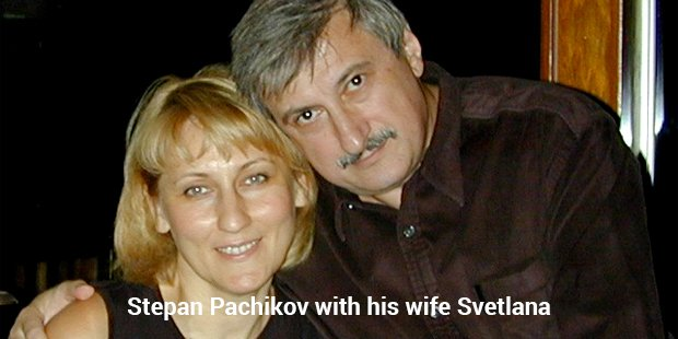 stepan pachikov with his wife svetlana
