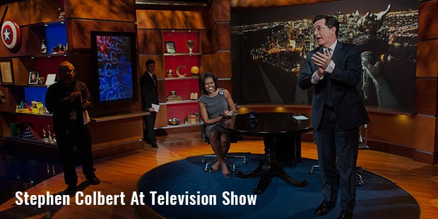 stephen colbert at television show