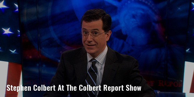 stephen colbert at the colbert report show