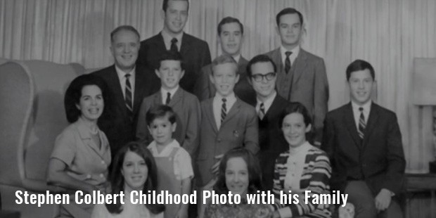 stephen colbert childhood photo with hisfamily