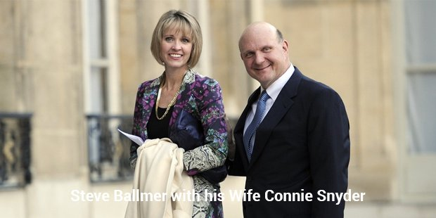 steve ballmer with his wife connie snyder