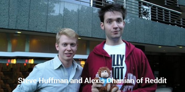 steve huffman and alexis ohanian of reddit