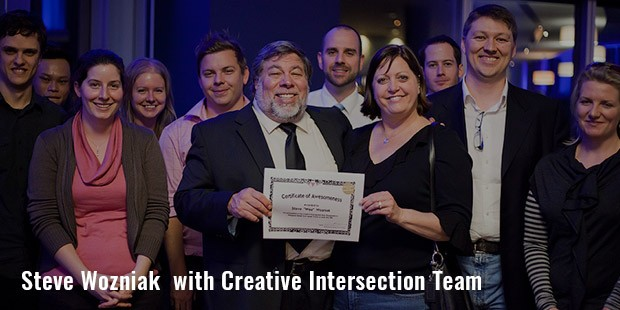steve wozniak  with creative intersection team
