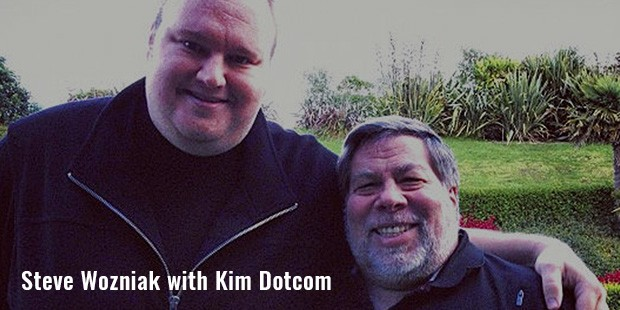 steve wozniak with kim dotcom