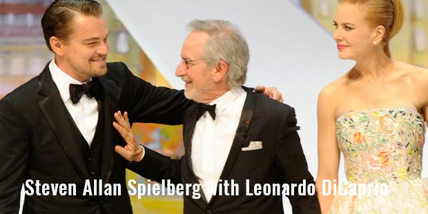 steven allan spielberg with leonardo dicaprio