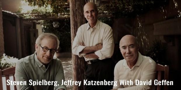 steven spielberg, jeffrey katzenberg with david geffen