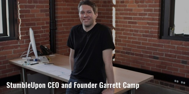 stumbleupon ceo and founder garrett camp