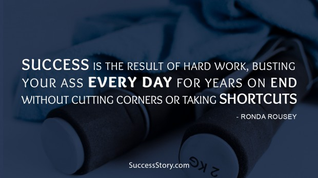 succes is the result