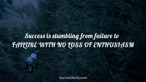 Success is stumbling from failure