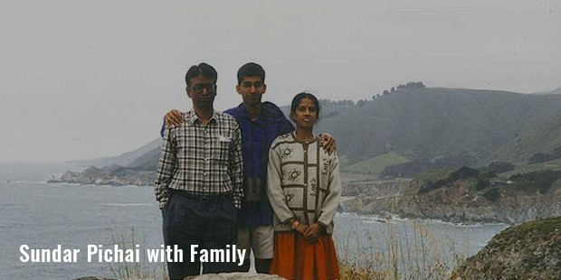 sudar pichai with family