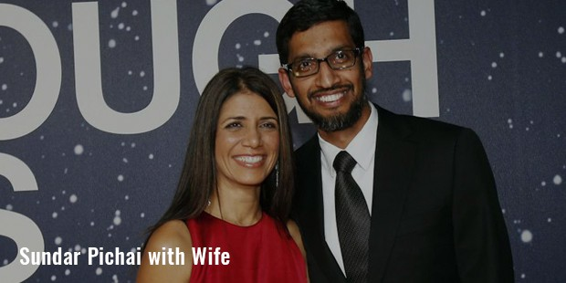 sudar pichai with wife