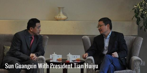 sun guangxinwith president