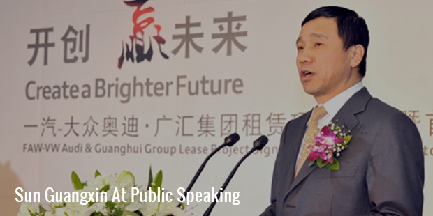 sunguangxin at public speaking