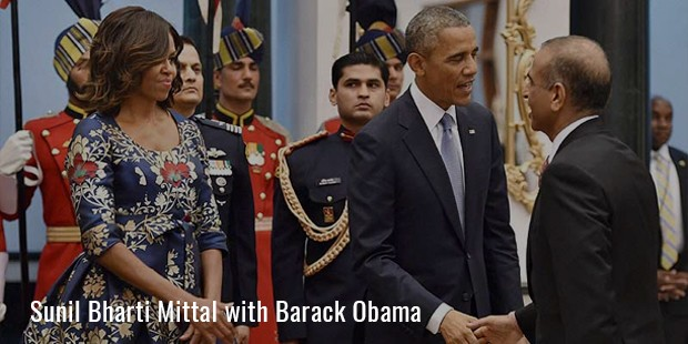 Sunil Bharti Mittal with Barack Obama