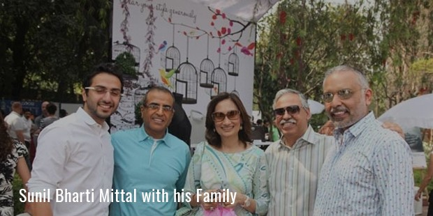 Sunil Bharti Mittal with his Family