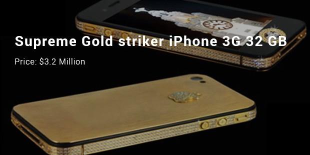 supreme gold striker iphone 3g 32 gb