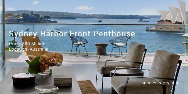 sydney harbor front penthouse