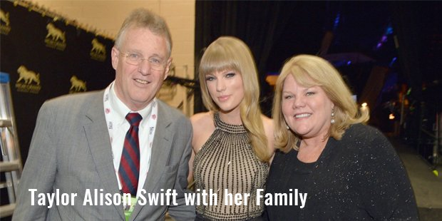 taylor alison swift with her family