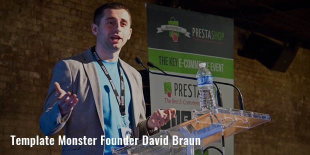 template monster founder david braun