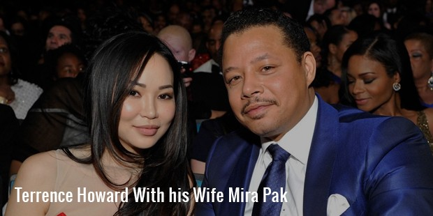 terrence howard with his wife mira pak