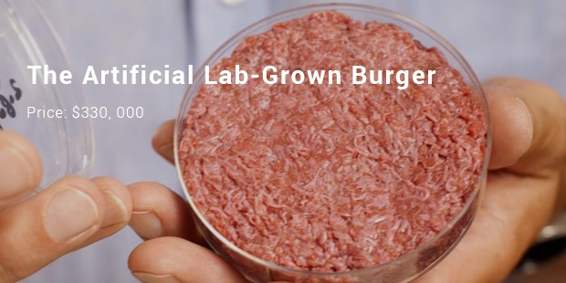 the artificial lab grown burger