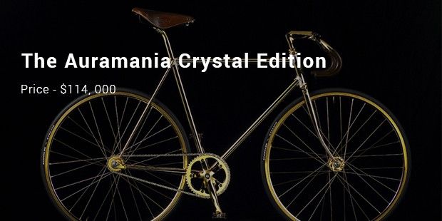 the auramania crystal edition – gold bike