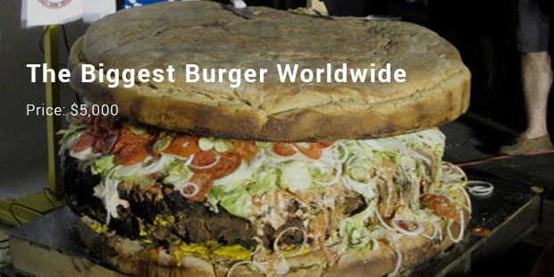 the biggest burger worldwide