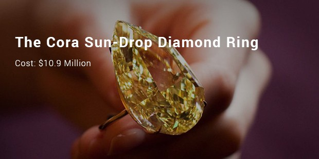 the cora sun drop diamond ring