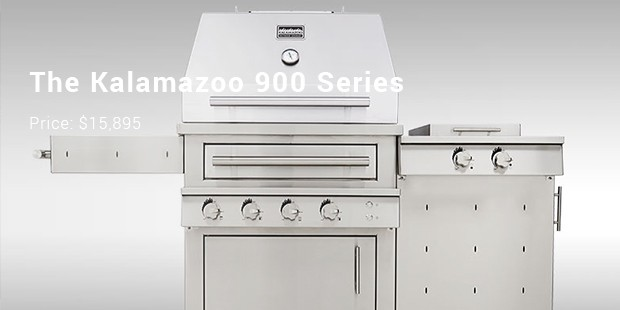 The Kalamazoo 900 Series Freestanding Hybrid Grill With Side Burner