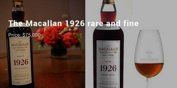 the macallan 1926 rare and fine