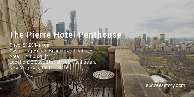 the pierre hotel penthouse