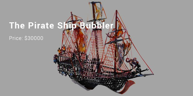 the pirate ship bubbler